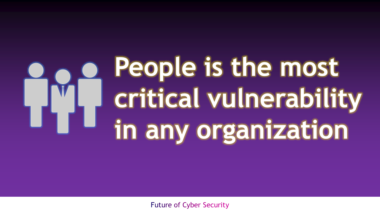 People is the most critical vulnerability in any organization