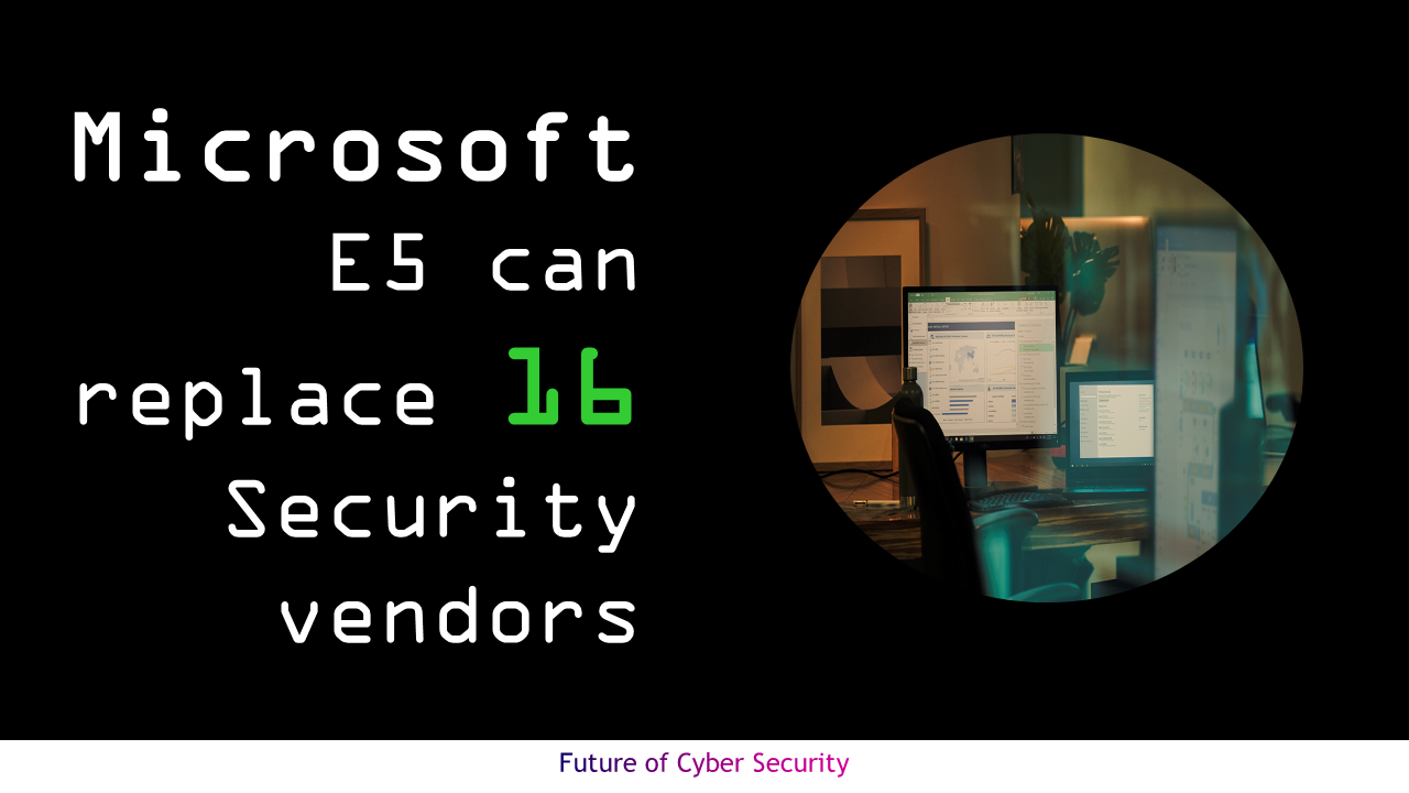 Microsoft E5 can replace 16 Security vendors
